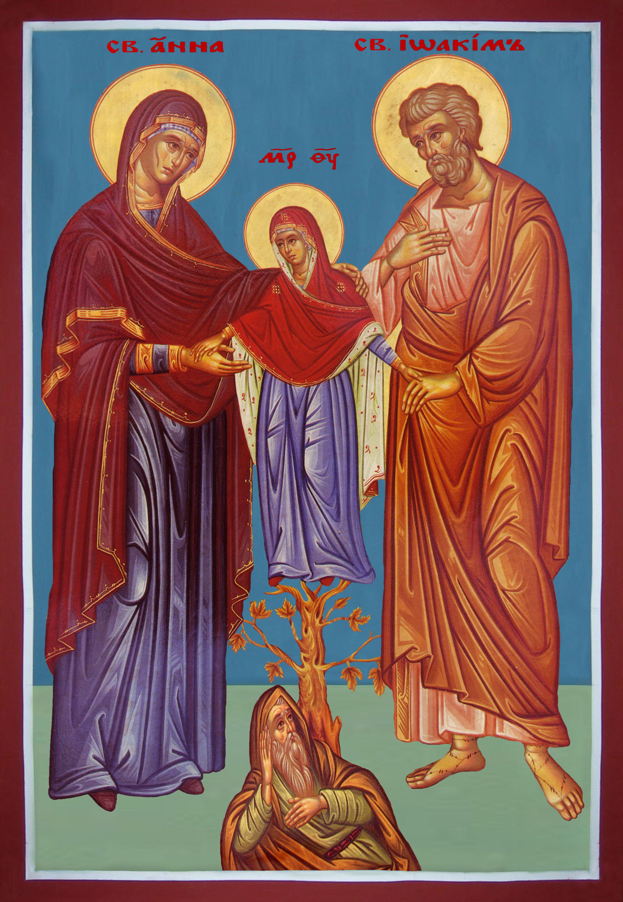 Резултат с изображение за Свети и праведни богоотци Йоаким и Анна